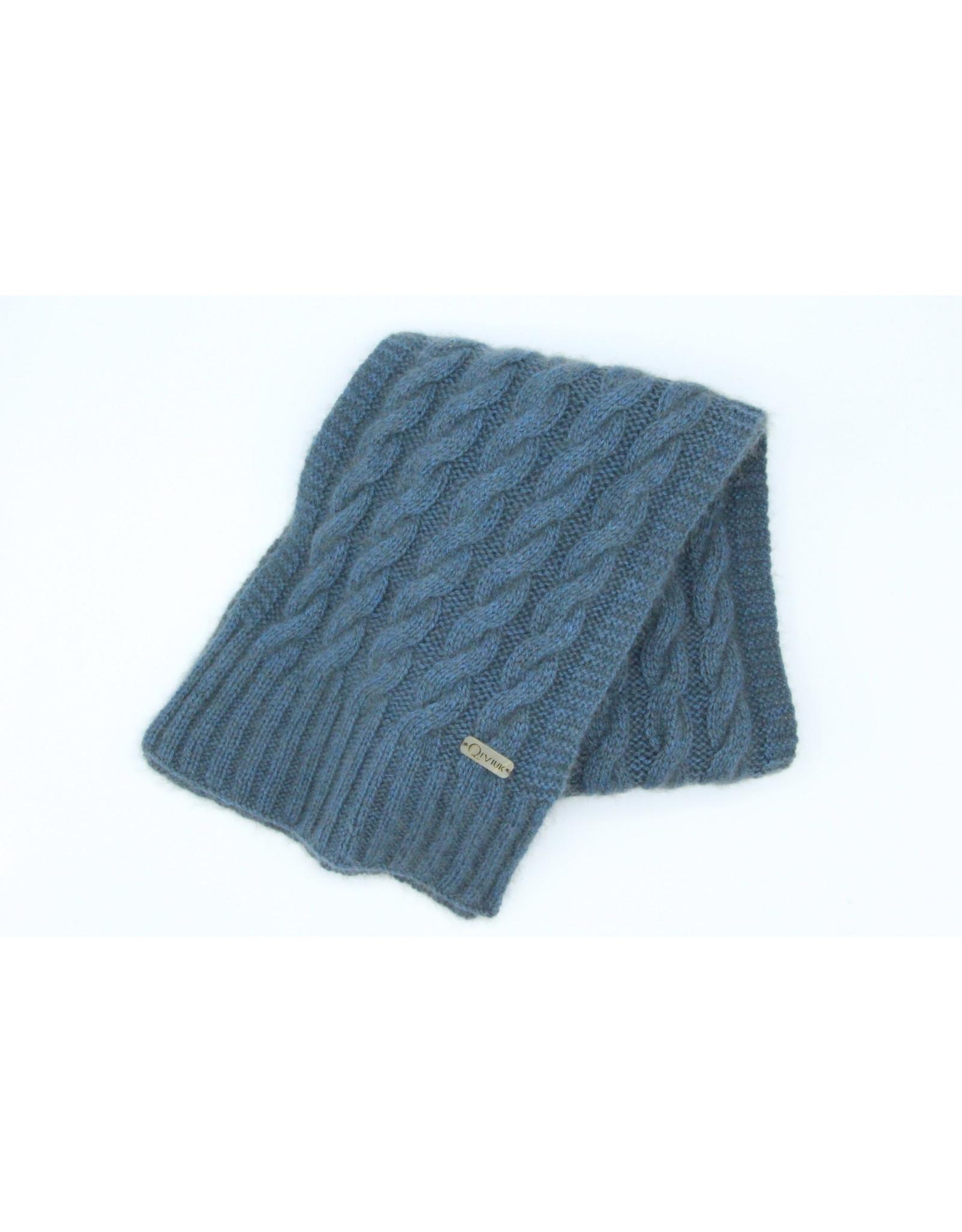 Cable Scarf - 100% Qiviuk