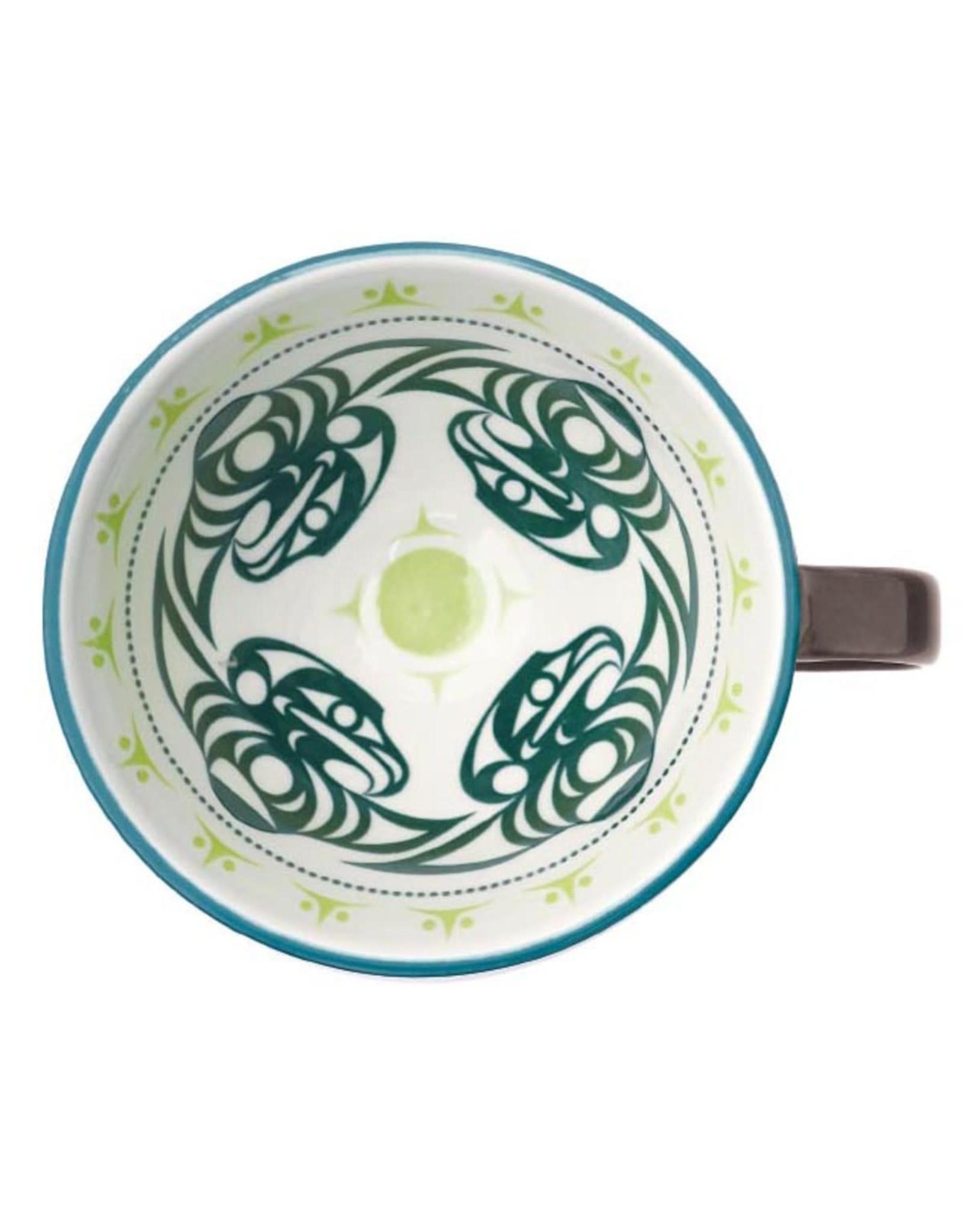 Porcelain Art Mug - Thunderbird by Dylan Thomas