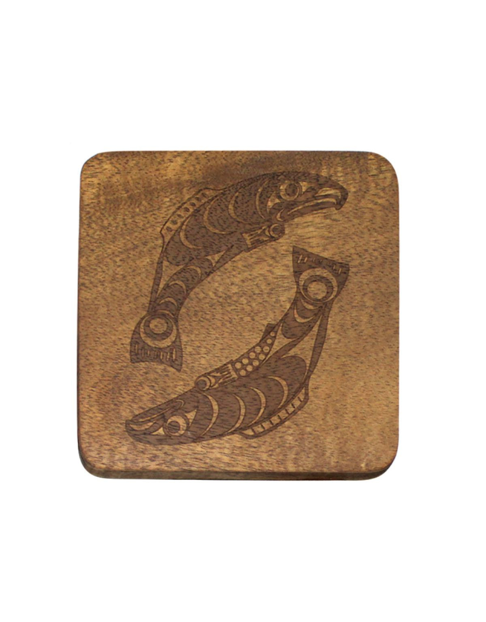 Acacia Wood Coasters - Salmon by Francis Horne Sr.