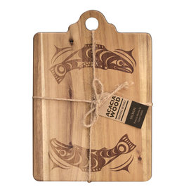 Acacia Wood Serving Board - Salmon by Francis Horne Sr.