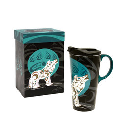 Perfect Mug - Howling Wolf by Darrell Thorne