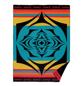 Salish Sunset by Simone Diamond Woven Blanket