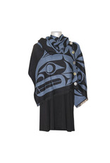 Button Shawl - Thunderbird and Whale by Maynard Johnny Jr. (BS16)