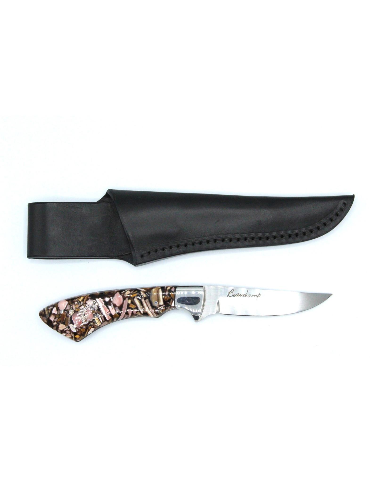 Couteau en Molaire de Mammouth Fossilisé #IB14B