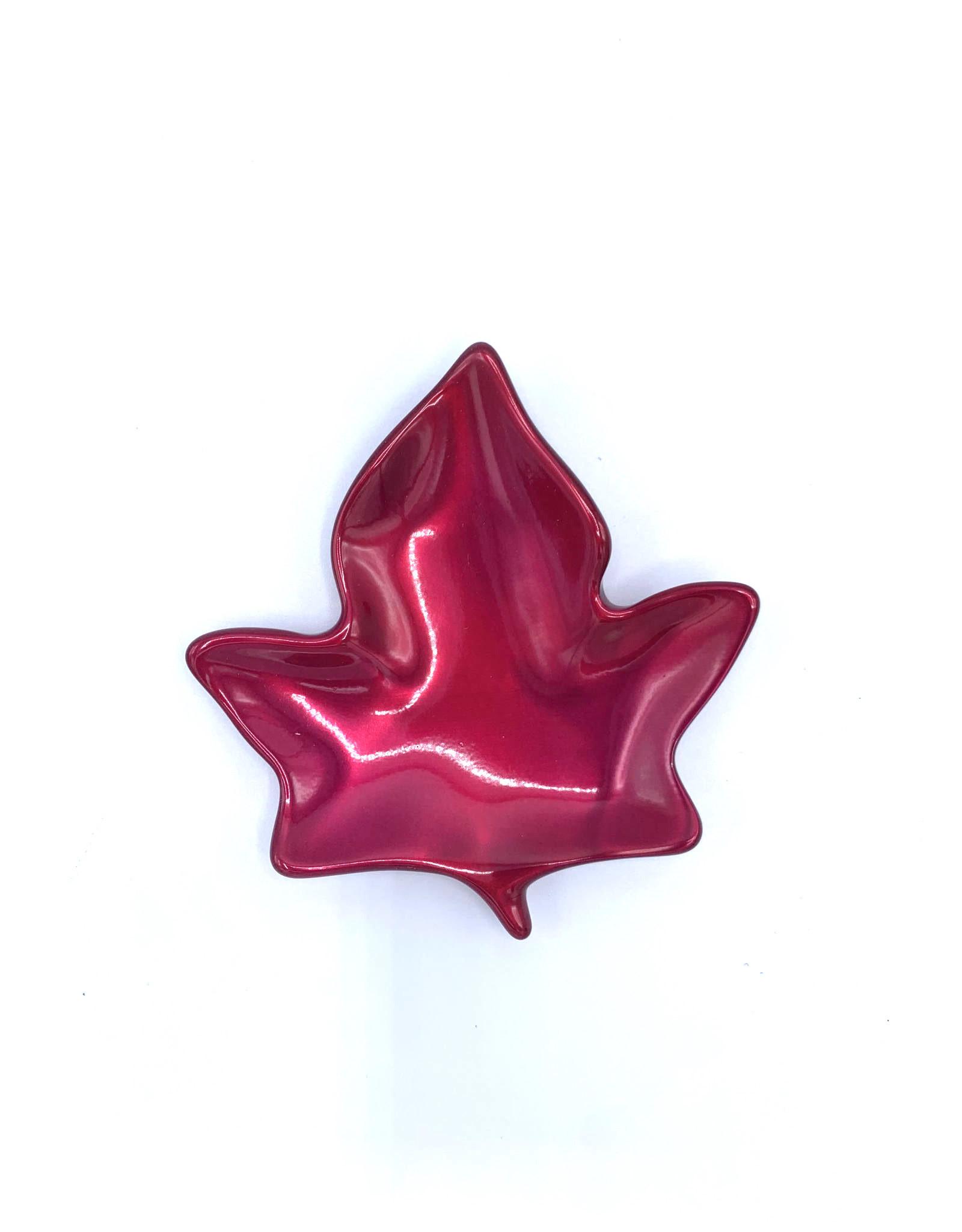 Maple Leaf Dish (Powder Red) - 2620