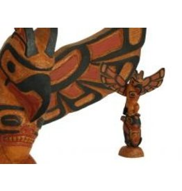 Thunderbird-Killer Whale Totem Pole