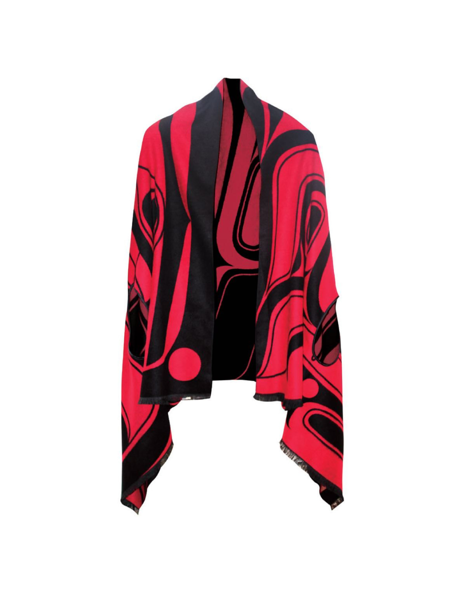Reversible Fashion Cape - Tradition by Ryan Cranmer (Red & Black)