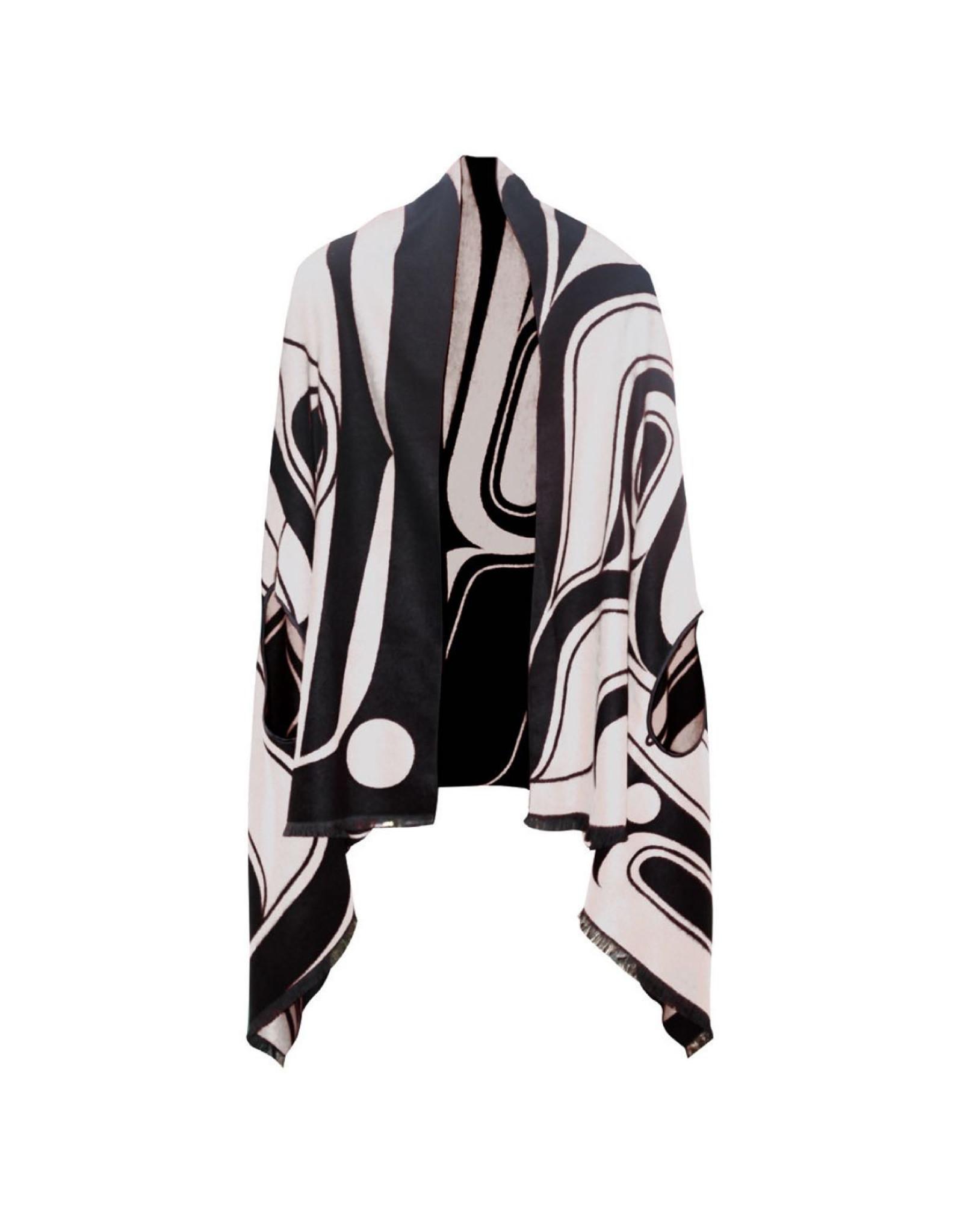 Reversible Fashion Cape - Tradition By Ryan Cranmer (Black & White)