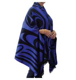 Reversible Fashion Cape - Spirit Wolf by Paul Windsor