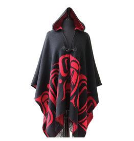 Hooded Fashion Wrap - Formline by Ernest Swanson