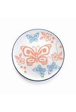 Porcelain Art Plate - Butterfly and Wild Rose by Justien Senoa Wood (PLATE16)