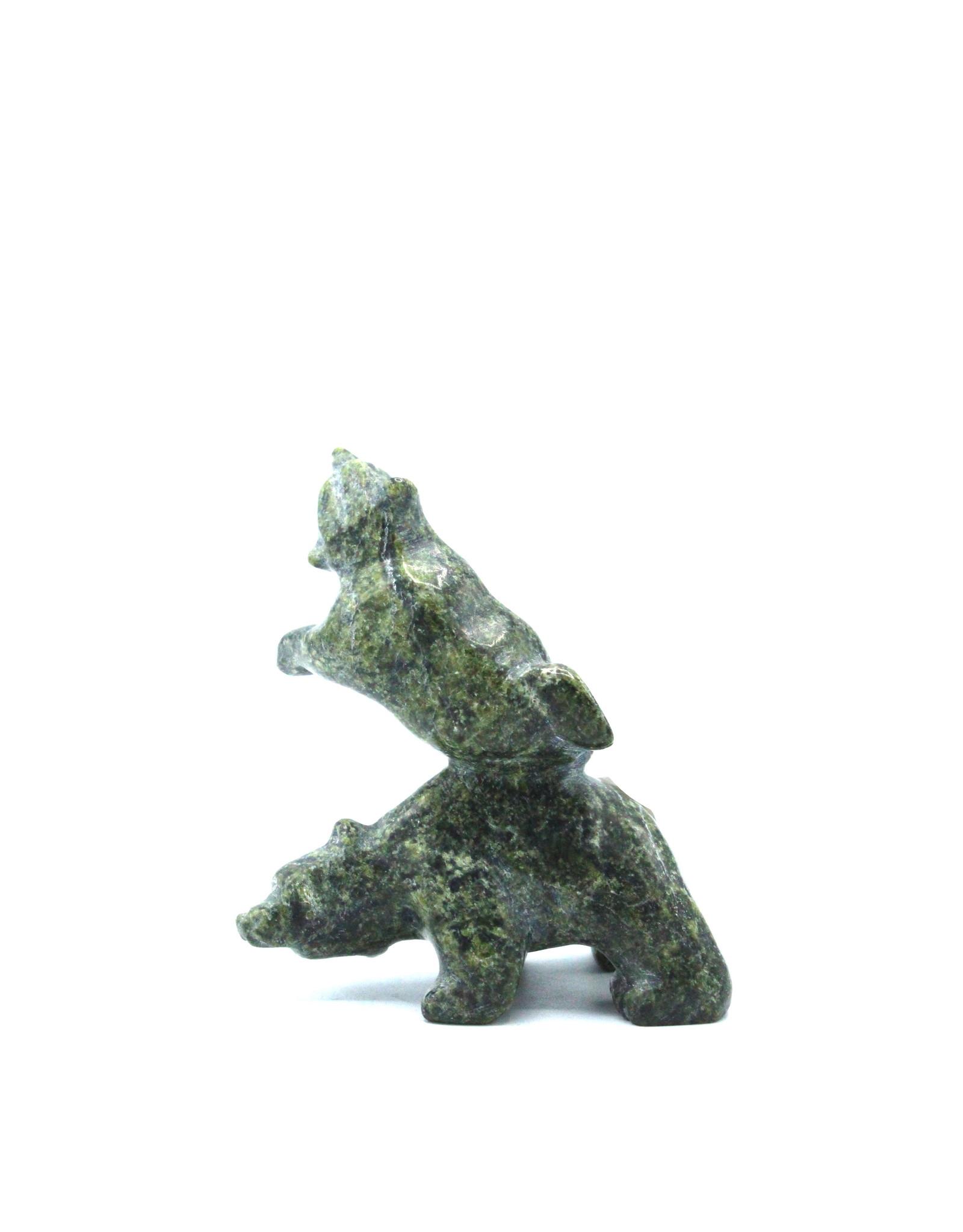 6856N 2 Bears by Johnny Papigatook