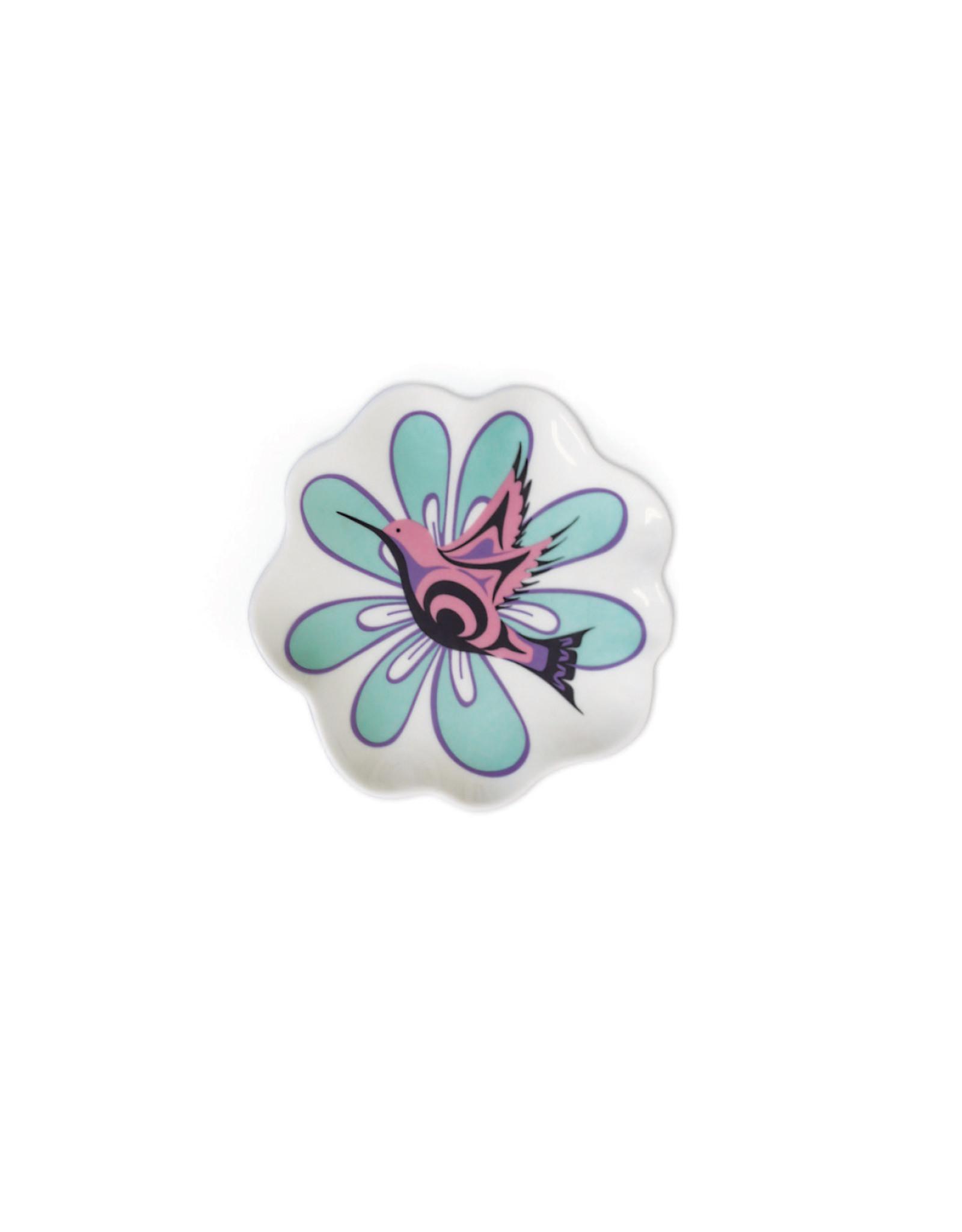 Petit Plat en Céramique - Hummingbird par Nicole La Rock (TDISH13)