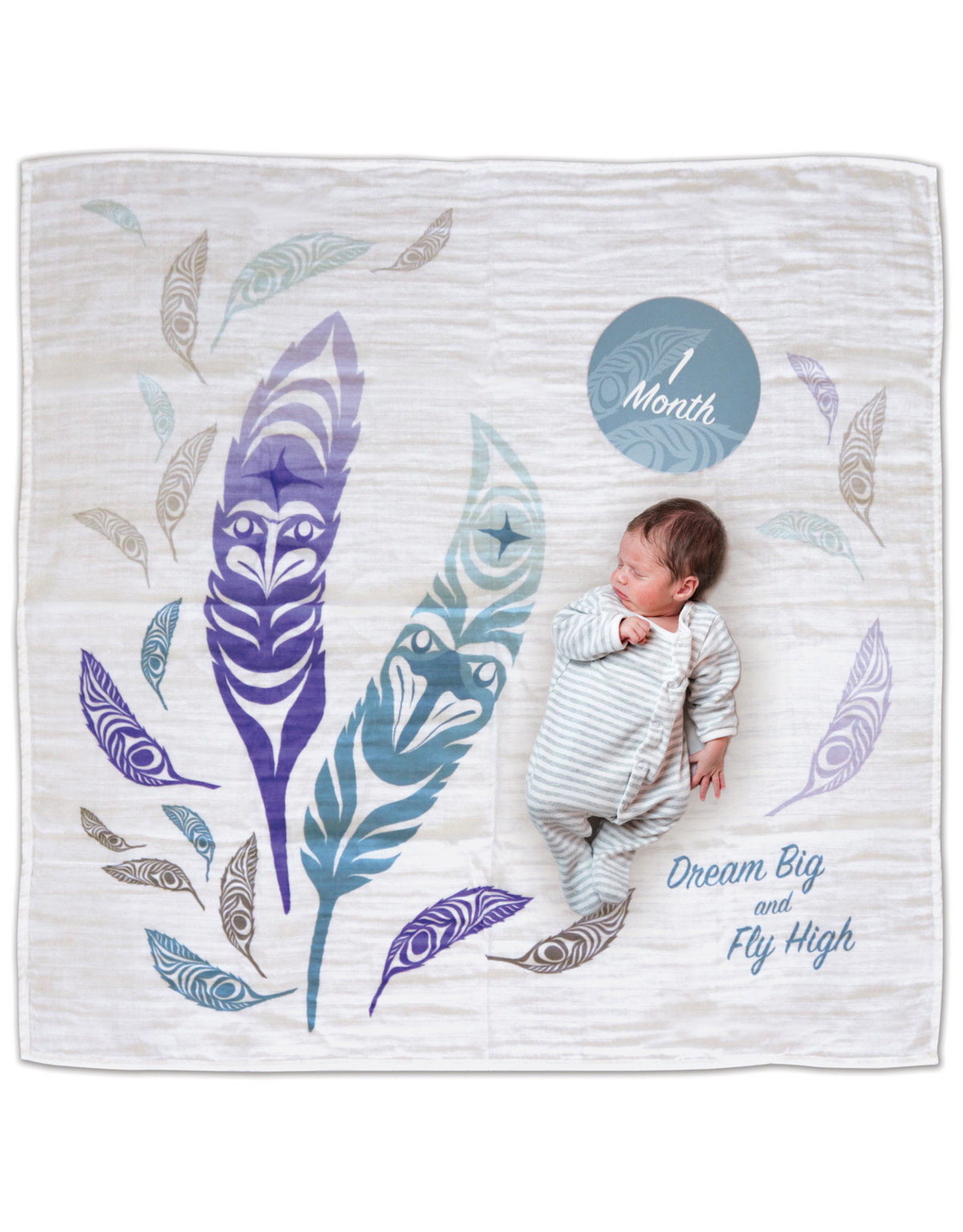 Baby Blanket and Milestone Sets - Feathers by Simone Diamond (BBK14)