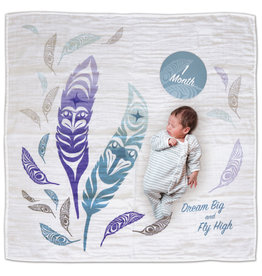 Baby Blanket and Milestone Sets - Feathers by Simone Diamond