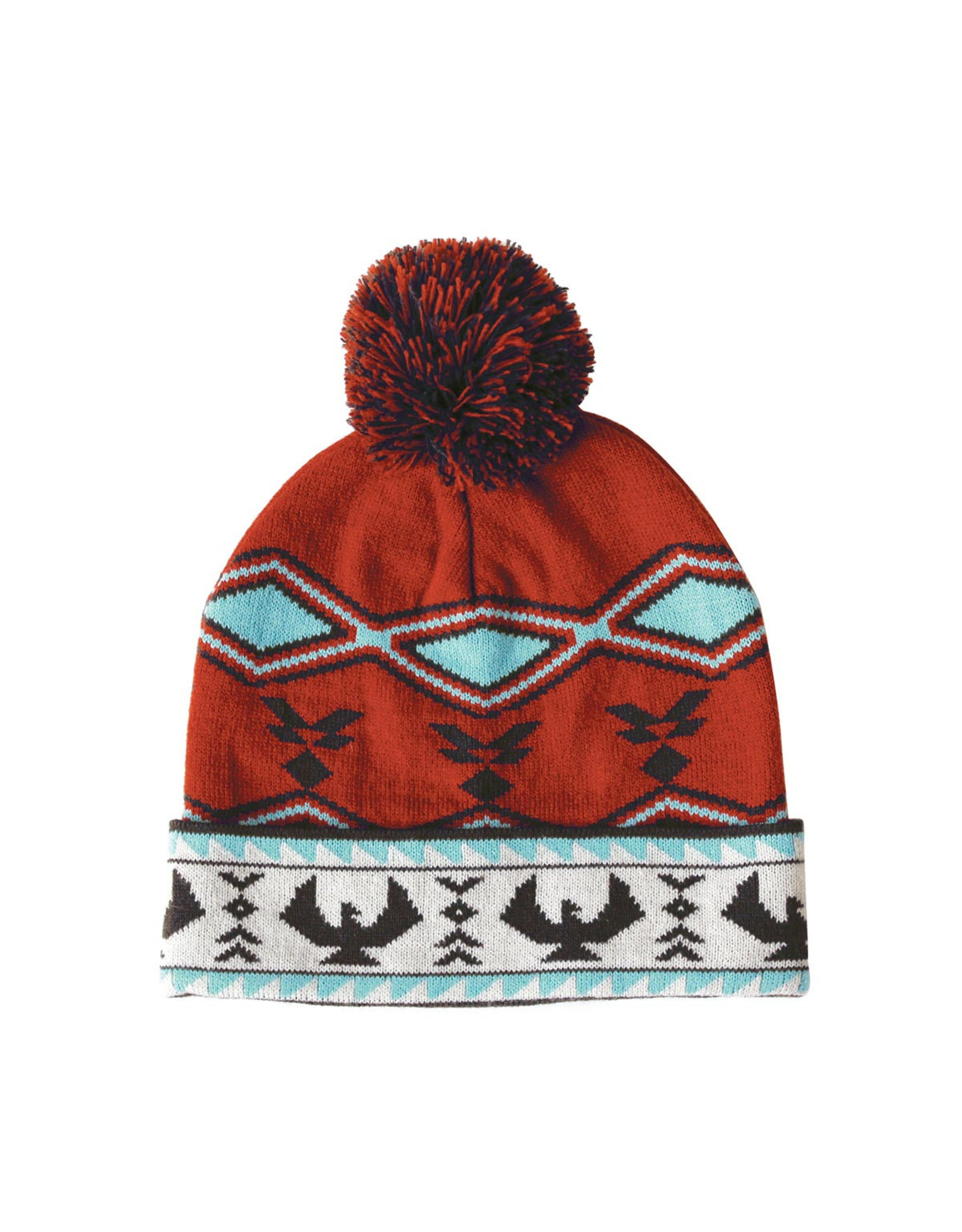 Knitted Tuque with Pom Pom - Salish Weaving Collection - Spirit of the Sky by Leila Stogan (TQSSS)