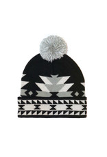 Knitted Tuque with Pom Pom - Salish Weaving Collection - Visions of Our Ancestors by Leila Stogan (TQSSV)
