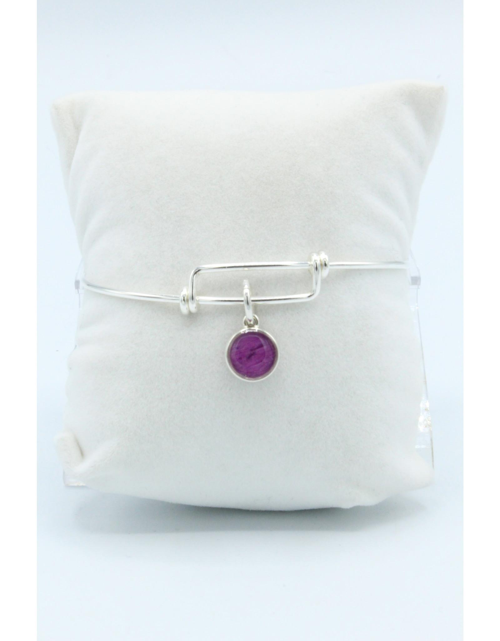 Alberta Wild Rose Expandable Silver Bracelet - AB02E