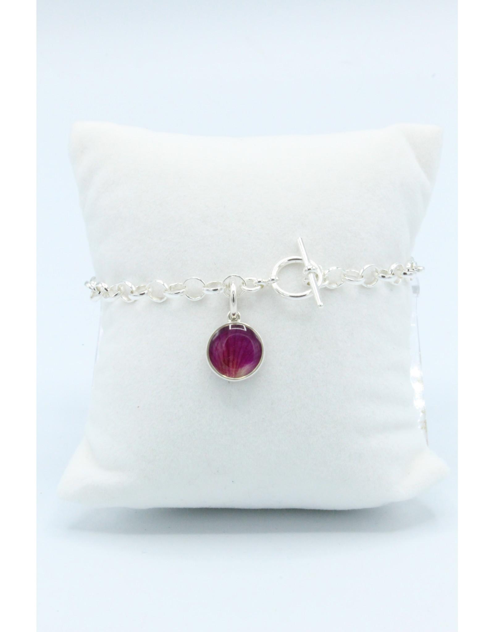 Alberta Wild Rose Silver Bracelet - AB02T