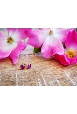 Boucles d'Oreilles Argent 5mm Rose Sauvage d'Alberta - AB0505S