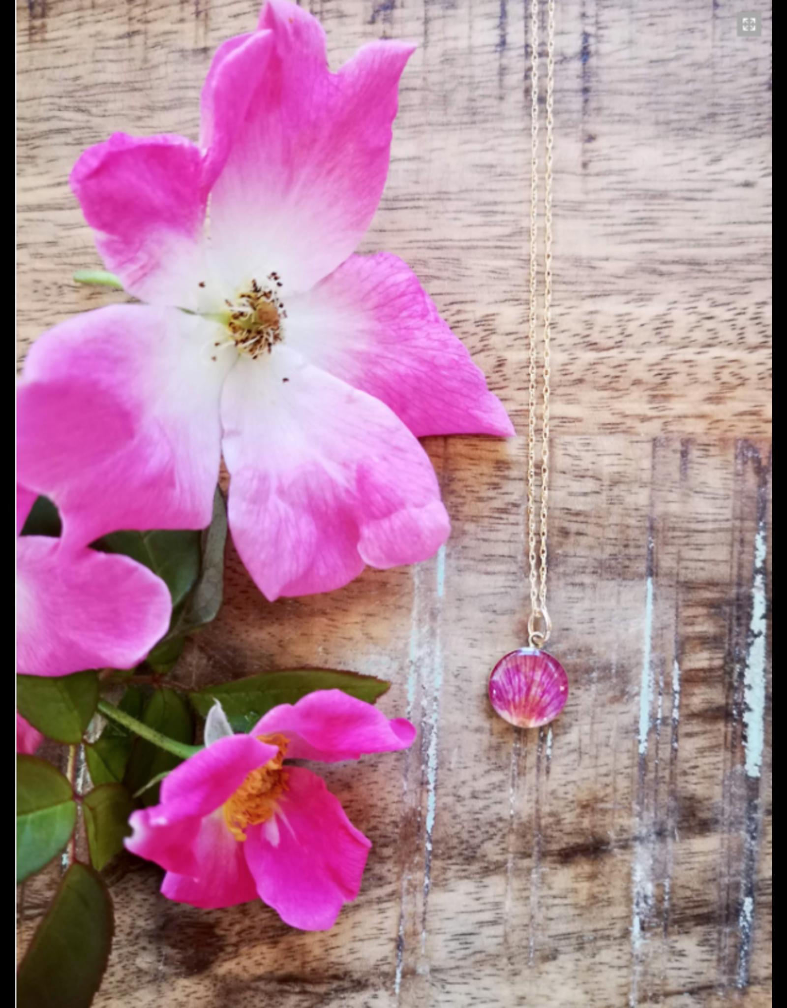 Collier Plaqué Or Rose Sauvage de l'Alberta 12mm  - AB0112G