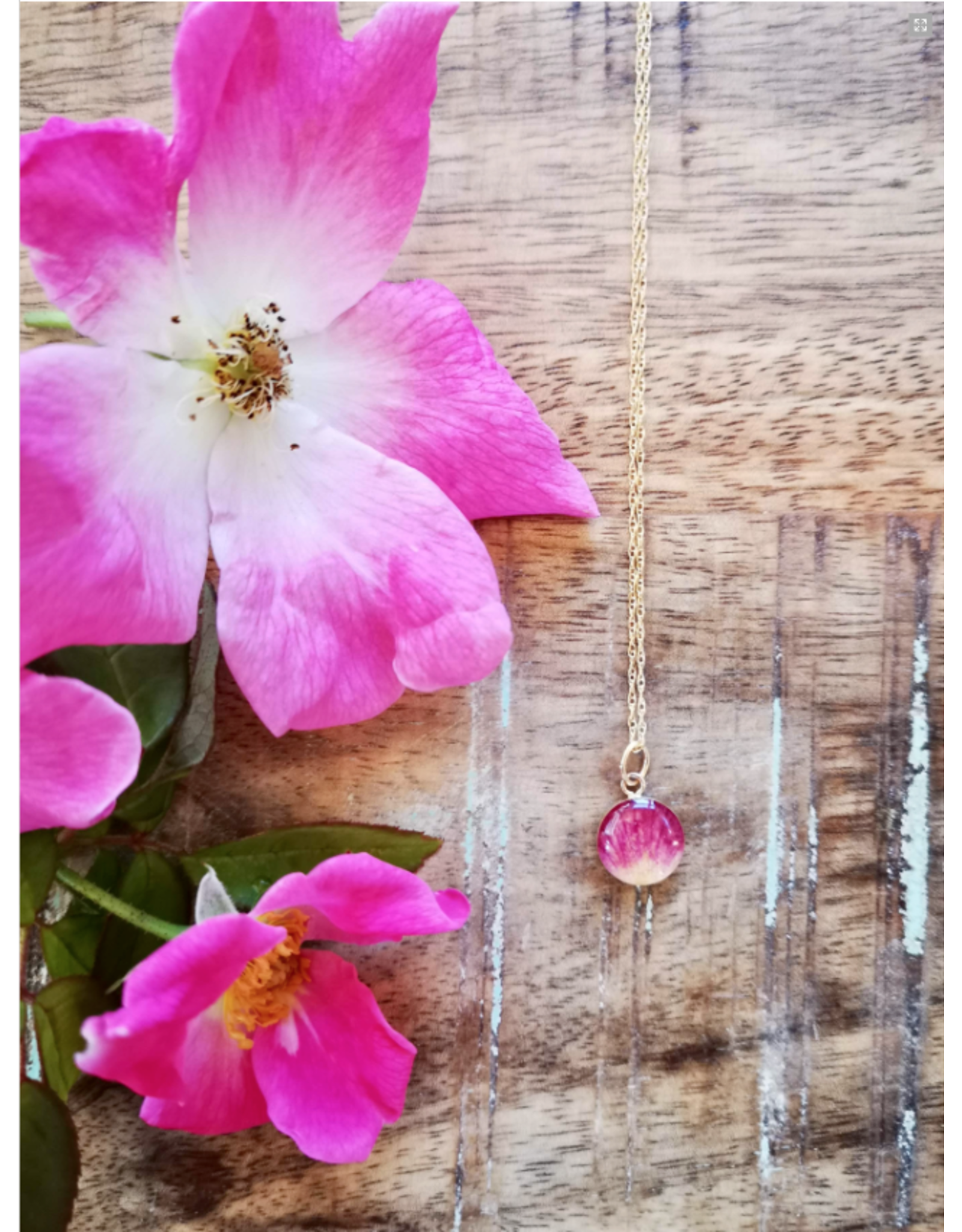 Collier Plaqué Or Rose Sauvage de l'Alberta 10mm - AB0110G