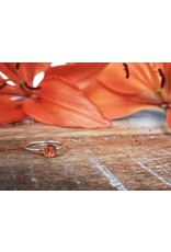 Saskatchewan Tiger Lily Stacking Ring - TLSR