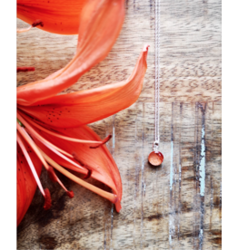 Tiger Lily 8mm Silver Necklace