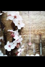 Collier Argent Fleur de Cerisier 8mm  - VCB0108S