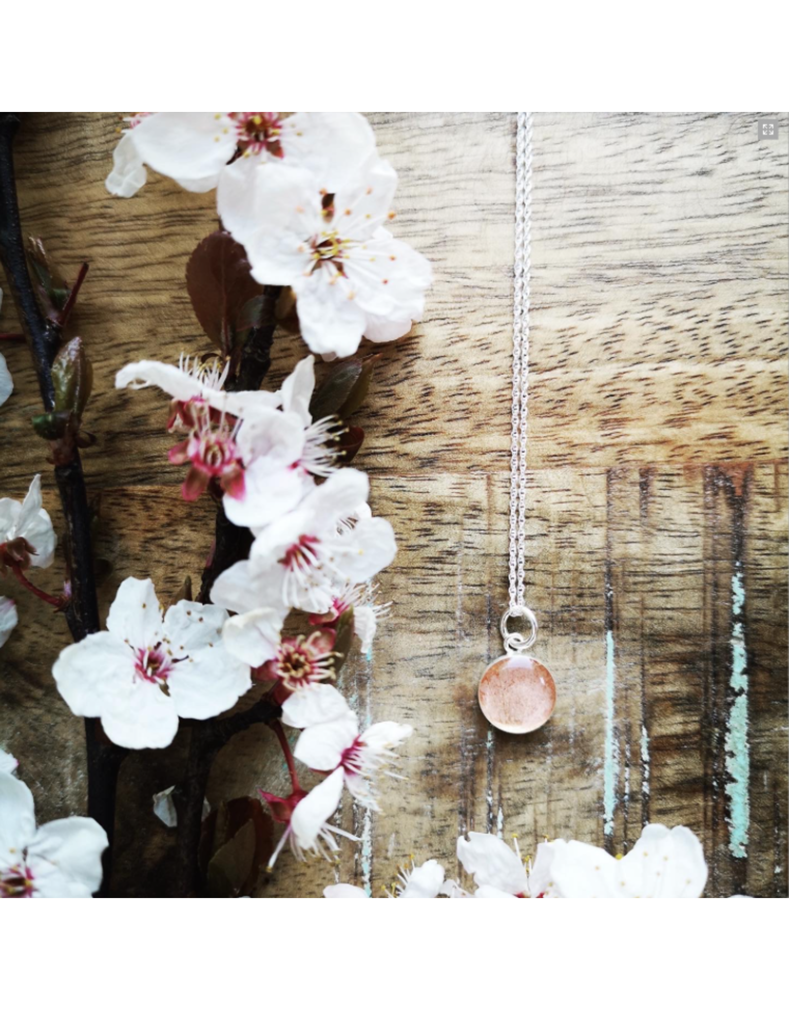 B.C Cherry Blossom 10mm Silver Necklace - VCB0110S