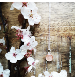 Collier Argent Fleur de Cerisier 10mm