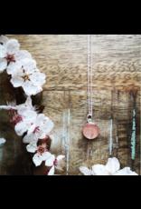 Collier Argent Fleur de Cerisier 12mm  - VCB0112S