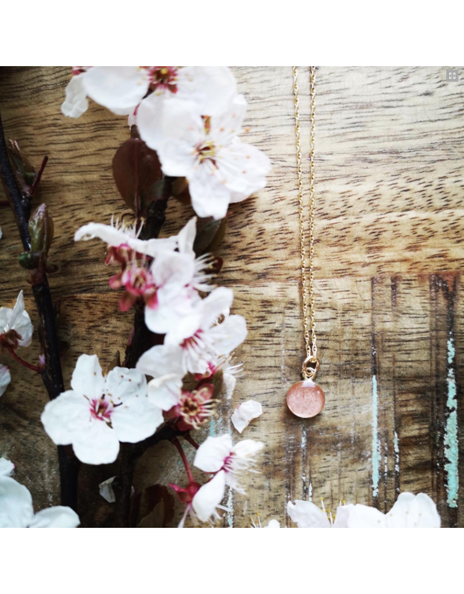 B.C Cherry Blossom 8mm Gold Necklace - VCB0108G