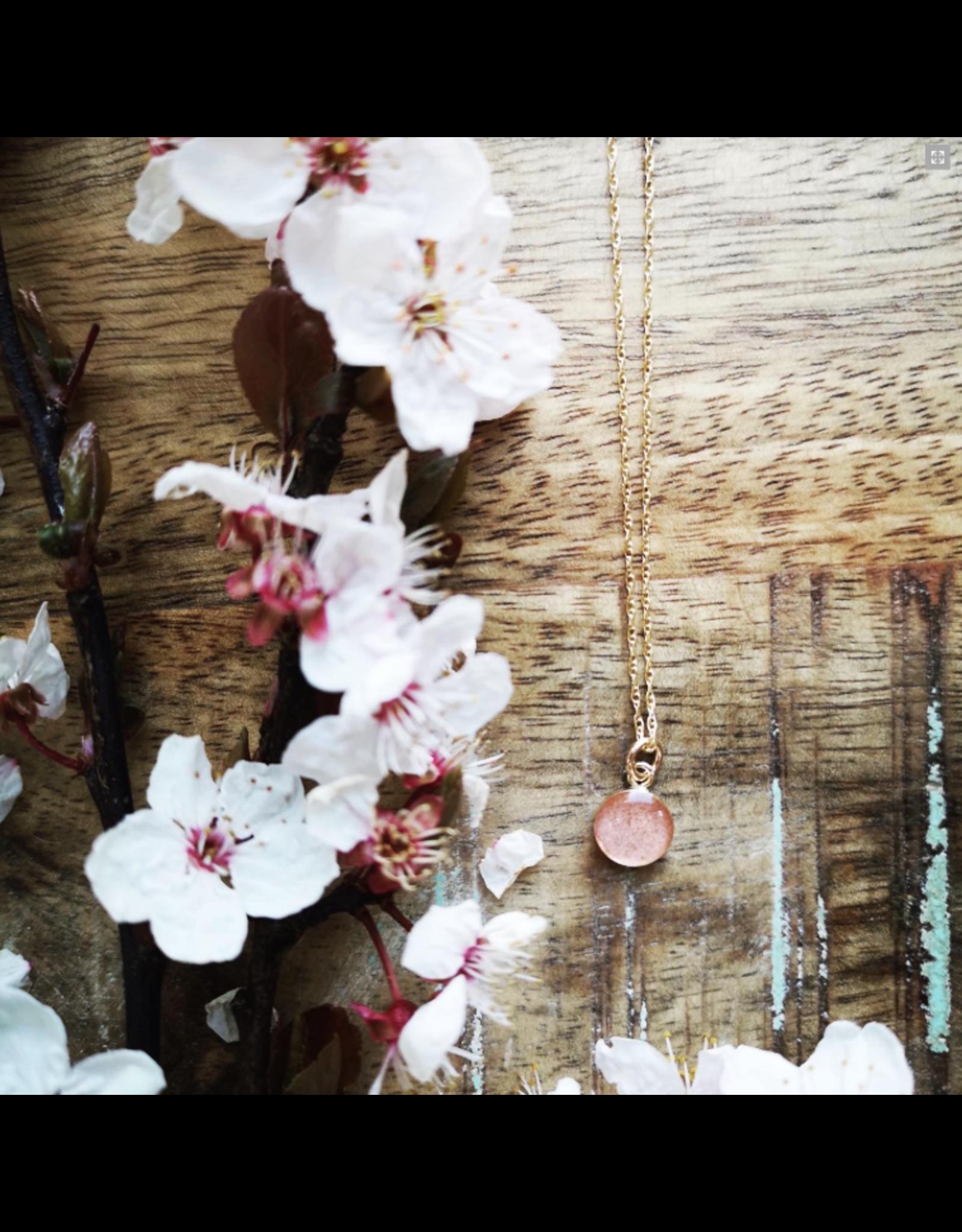 Collier Plaqué Or Fleur de Cerisier 8mm  - VCB0108G