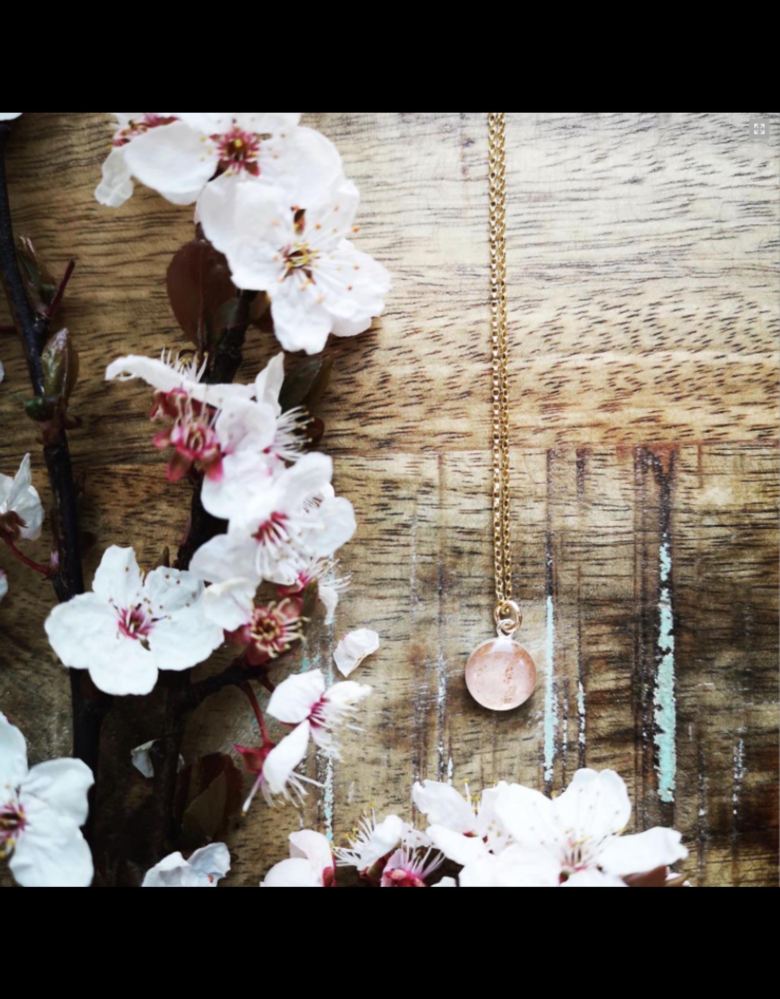 Collier Plaqué Or Fleur de Cerisier 10mm - VCB0110G