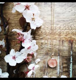 Collier Plaqué Or Fleur de Cerisier 12mm