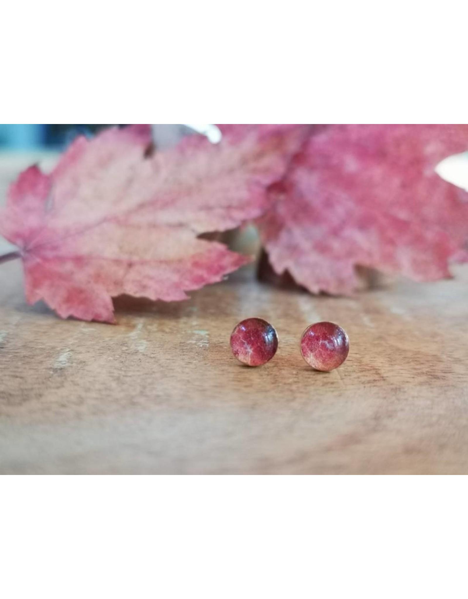 Maple Leaf 4mm Silver Earrings - ML0504S