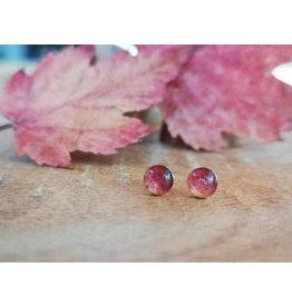 Maple Leaf 5mm Silver Earrings
