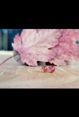 Boucles d'Oreilles Plaqué Or 4mm Feuille d'Érable  - ML0504G