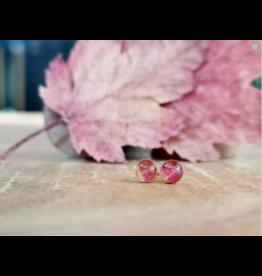 Boucles d'Oreilles Plaqué Or 4mm Feuille d'Érable