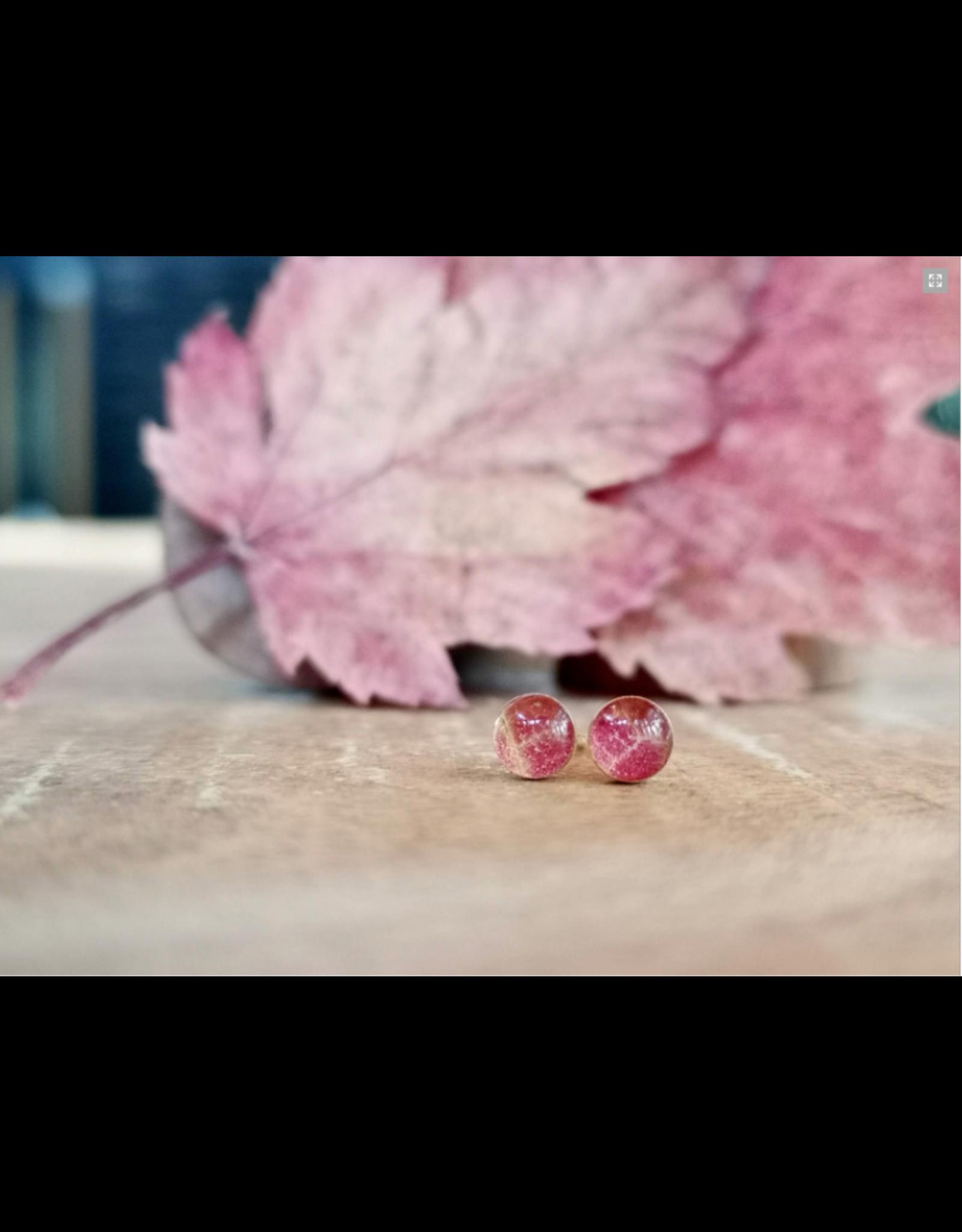 Maple Leaf 5mm Gold Earrings - ML0505G