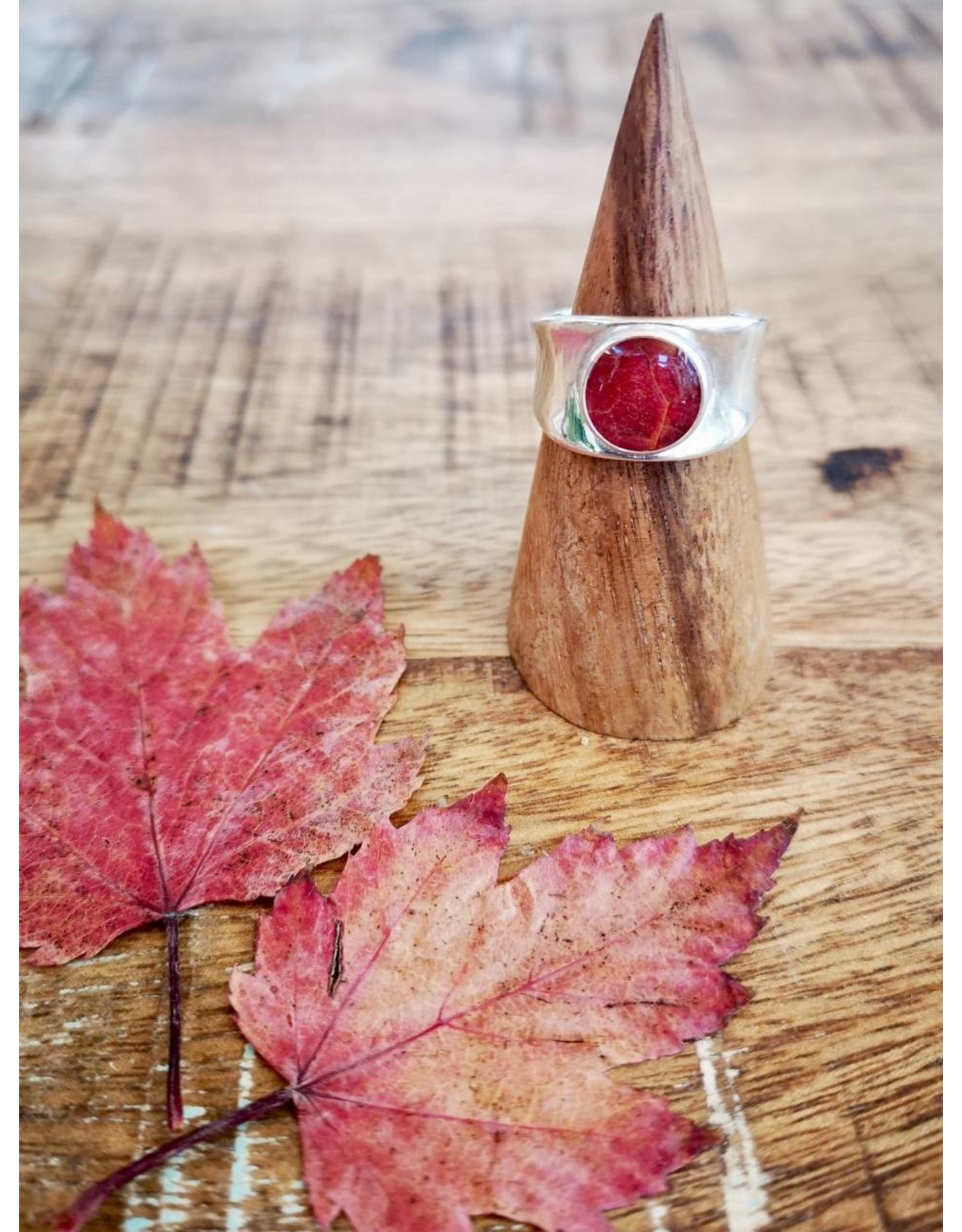 Maple Leaf Silver Chunky Ring - MLCR