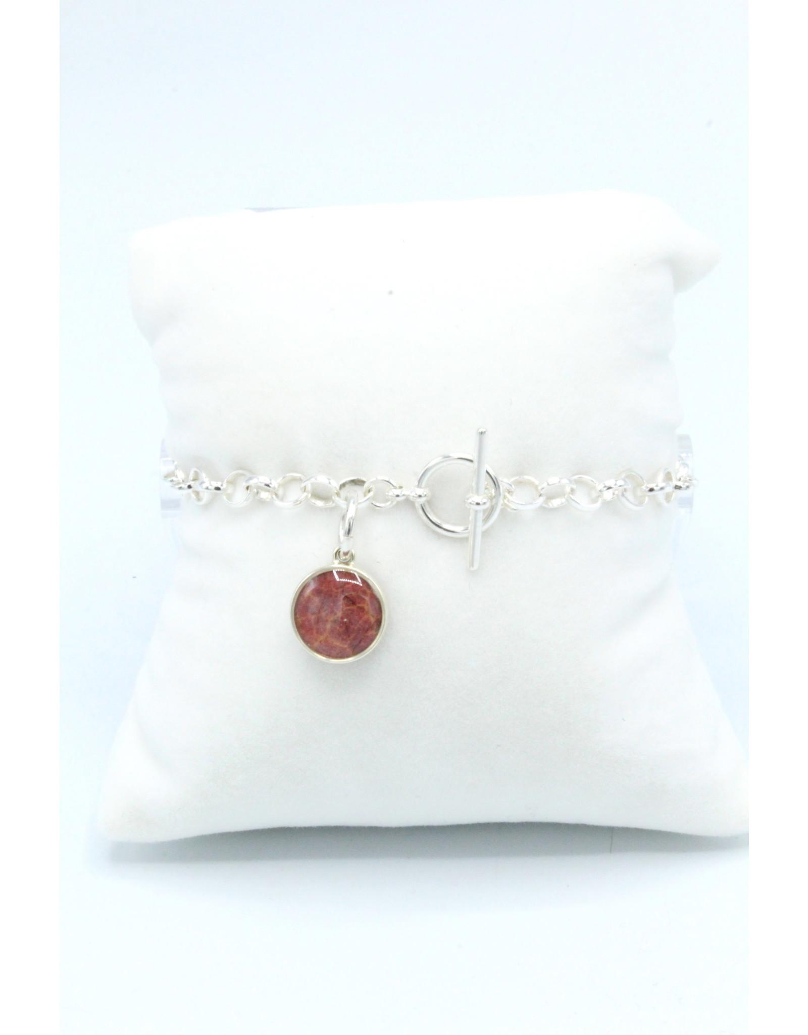 Maple Leaf Toggle Silver Bracelet - ML02T