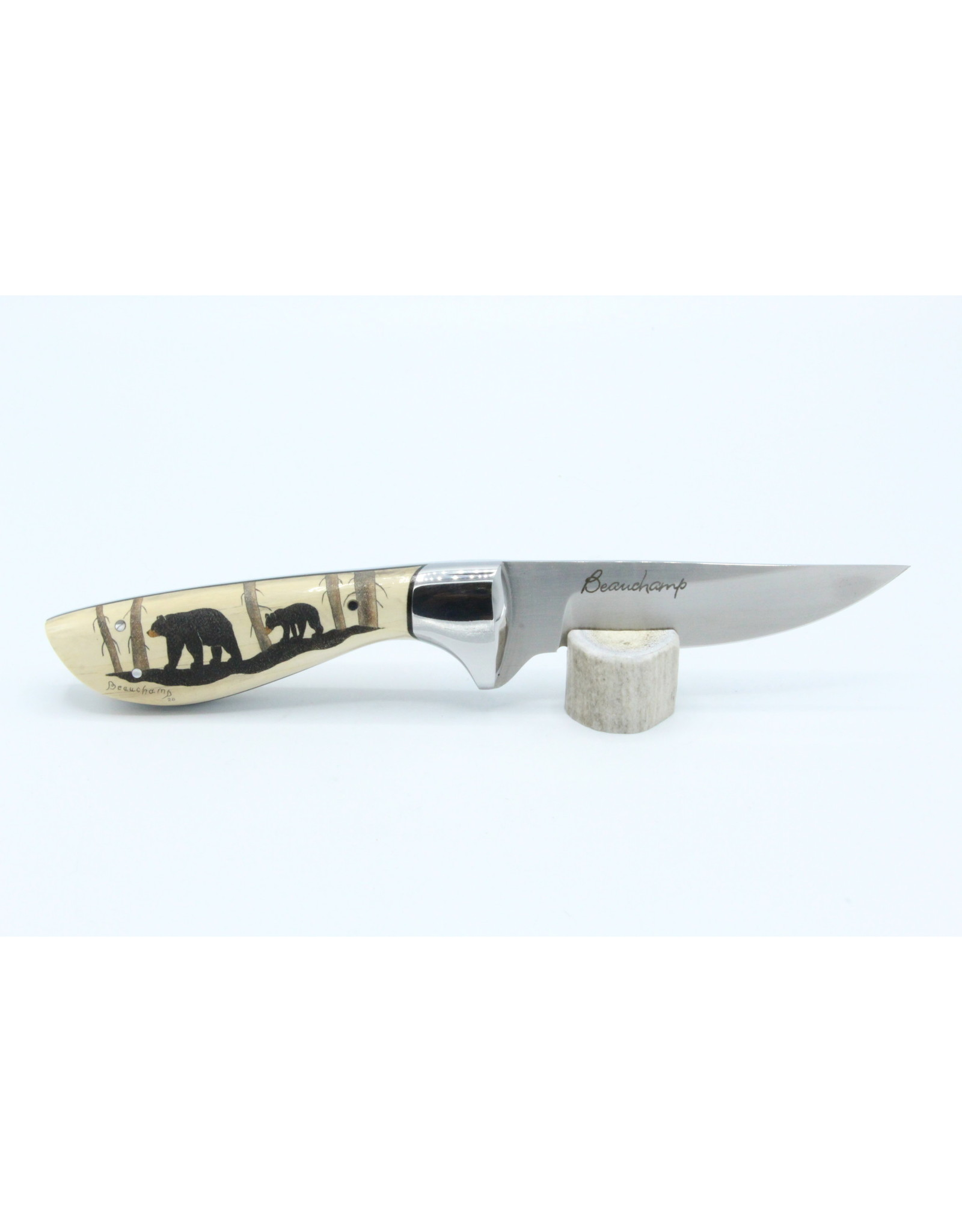 Fossilized Mammoth Ivory Knife - #35