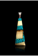 Dima Large Flare Necklace with Turquoise - DFT2