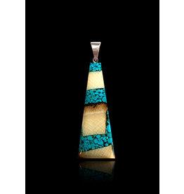Collier Ivoire de Mammouth et Turquoise Large 'Dima'