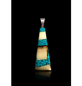Dima Large Flare Necklace with Turquoise