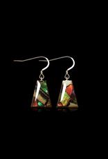 Dima Flare Earrings Mammoth Ivory & Ammolite - DF3