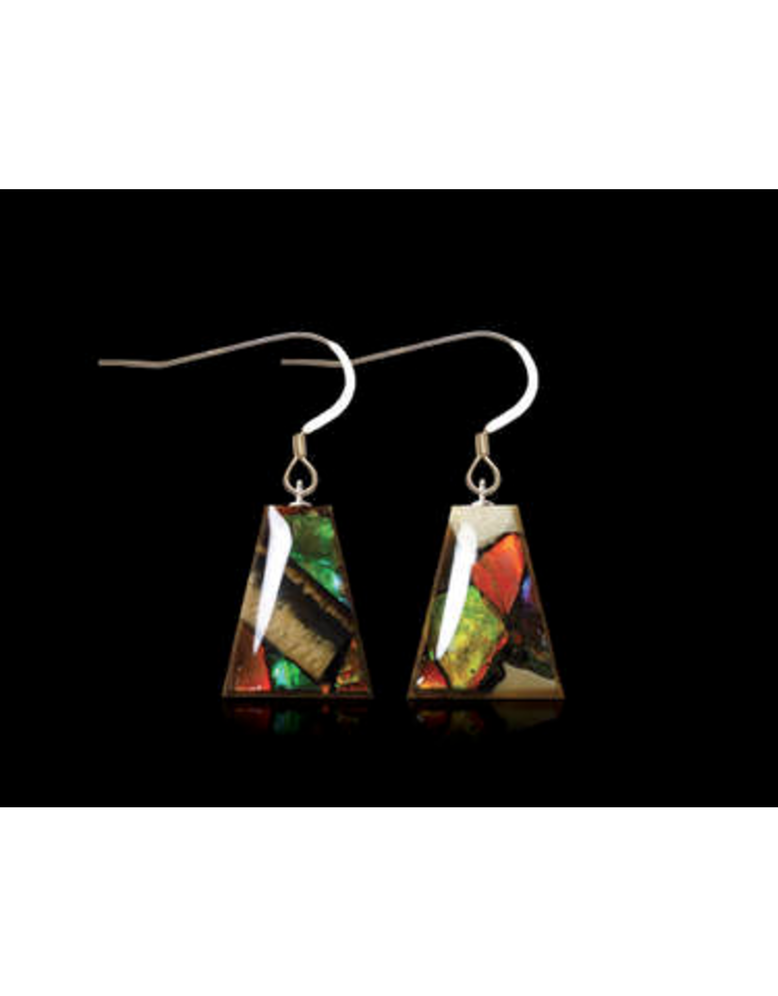Dima Flare Earrings Mammoth Ivory & Ammolite - DF3