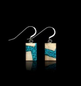 """Boucles d'Oreilles en Ivoire de Mammouth & Turquoise """"Dima"""" - DRT3"""